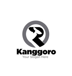 Australian kangaroo logo designs modern vector