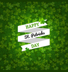 backgrounds with clovers vector image