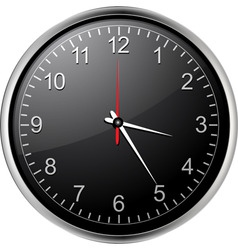 Black clock vector
