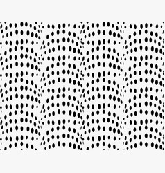 Black marker dotted bulging waves vector