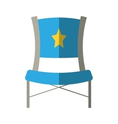 Blue chair star director film shadow vector