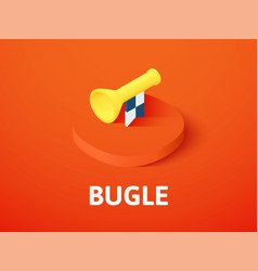 bugle isometric icon isolated on color background vector image
