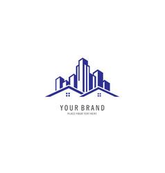 Building city logo vector