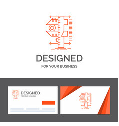 Business logo template for measure caliper vector