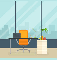 Business workplace modern interior empty vector