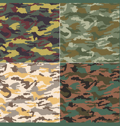 Camouflage seamless pattern fabric textile print vector