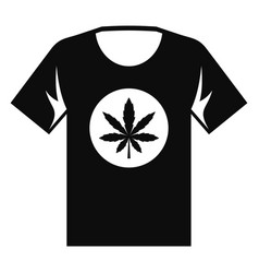 cannabis tshirt icon simple style vector image