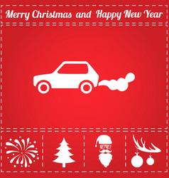 car smoke icon vector image