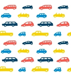 Car toy color seamless pattern background vector image