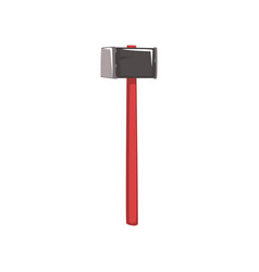 cartoon sledgehammer for coal mining vector image