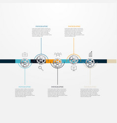 chronology of a business conceptinfographic vector image