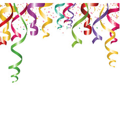 colored confetti isolated on a cellular background vector image