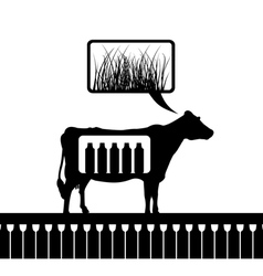 cow thinks vector image