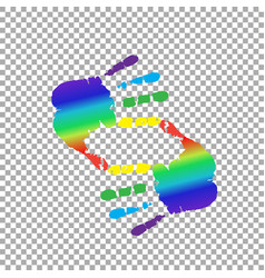 cropping symbol made of rainbow hands and copy vector image
