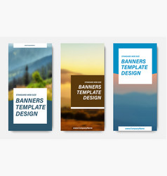 design of vertical banners with place for a photo vector image