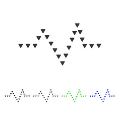 Dotted pulse flat icon vector