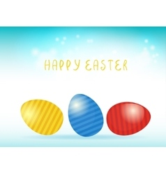 Easter card with easter eggs vector image