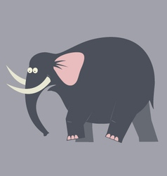 Elephant moving color vector image