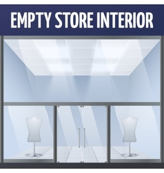Empty story interior vector image