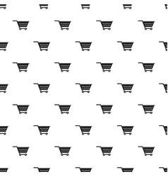 Empty supermarket cart pattern vector