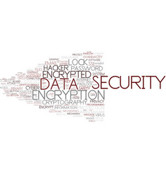 encrypted word cloud concept vector image