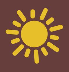 Flat sun icon summer pictogram sunlight symbol vector