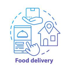 Food delivery service concept icon consumerism vector