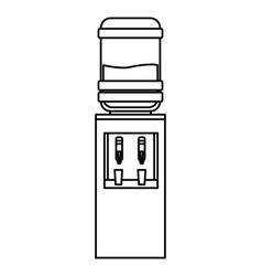 Furniture decoration water dispenser vector