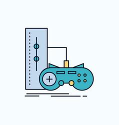 game gamepad joystick play playstation flat icon vector image