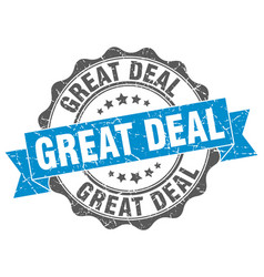 Great deal stamp sign seal vector