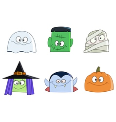 Halloween faces vector