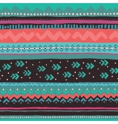Hand drawn pattern with ethnic and tribal motifs vector
