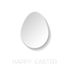 happy easter white background with paper vector image