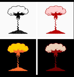 High altitude atmospheric nuclear explosion vector
