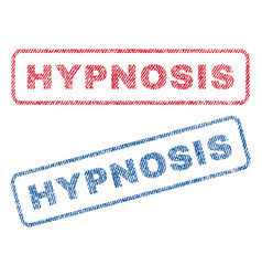Hypnosis textile stamps vector