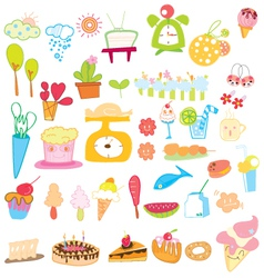 icon sweet color vector image