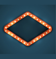 light bulb frame marquee vector image