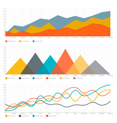 line chart and triangle chart vector image