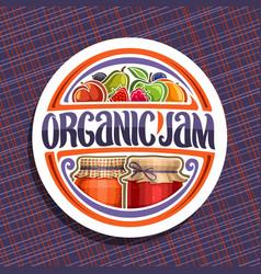 logo for organic jam vector image