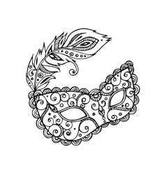 mardy gras mask vector image
