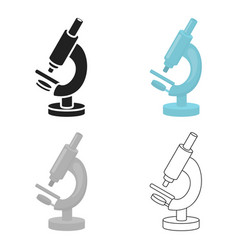 Microscope icon cartoon single medicine icon from vector