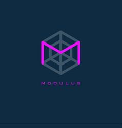 modulus logo m monogram m letter vector image