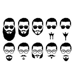 Mustaches and beards vector