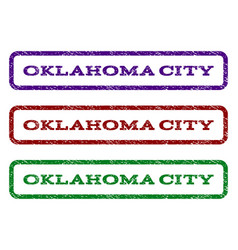 Oklahoma city watermark stamp vector