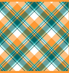 Orange diagonal fabric texture seamless pattern vector