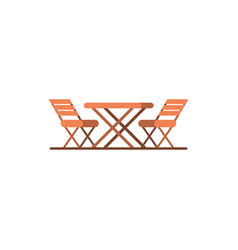 outdoor cafe table restraunt design element vector image