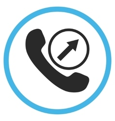 Outgoing Call Flat Rounded Icon vector image