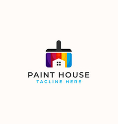 Paint house logo template isolated in white vector