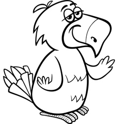 Parrot bird cartoon coloring page vector