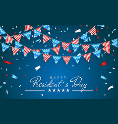 patriotic background with bunting flags for happy vector image